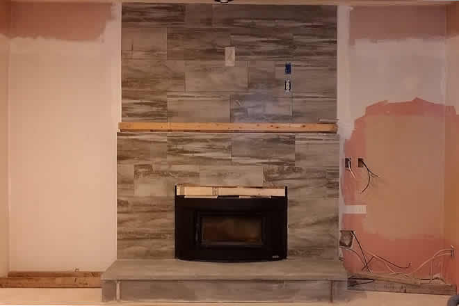 fireplace under construction